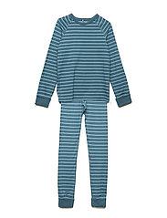 Pyjamas Striped School - COLONIAL BLUE