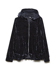 Zip Up velour School - DARK SAPPHIRE