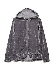 Zip Up velour School - SILVER