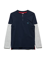 Top Long Sleeve Jersey School - DARK SAPPHIRE