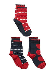 Socks 3-P Jaquard - CHILI PEPPER