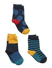 Socks 3-P Jaquard