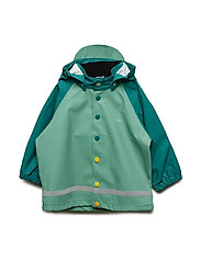 Waterproof Rain Jacket with Appliqué - ANTIQUE GREEN