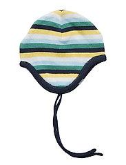 Striped Baby Helmet Hat - MOOD INDIGO