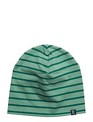 Striped Hat - MALACHITE GREEN