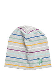 Striped Hat - GREYMELANGE
