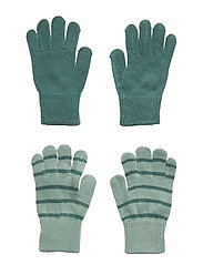 Knitted Magic Gloves in Pack of 2 - MALACHITE GREEN
