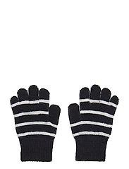 Striped Wool Baby Magic Gloves - DARK SAPPHIRE