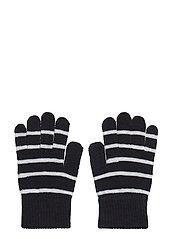 Striped Wool Magic Gloves - DARK SAPPHIRE