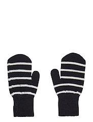 Striped Magic Wool Gloves - DARK SAPPHIRE