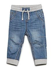 Jeans w. Rib Cuff Preschool - LIGHT DENIM