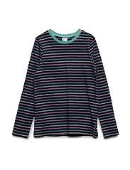 T-shirt Long Sleeve stripe School - DARK SAPPHIRE