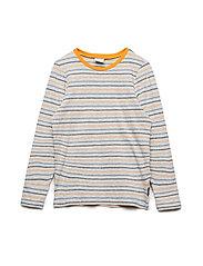 T-shirt Long Sleeve stripe School - GREYMELANGE