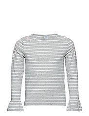 Top Long Sleeve stripe School - GREYMELANGE
