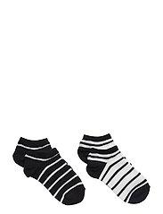 Socks 2-P Ancle Stripe Preschool - DARK SAPPHIRE