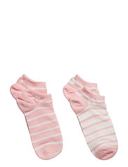 Socks 2-P Ancle Stripe School - ALMOND BLOSSOM