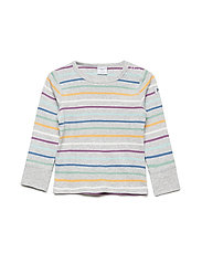 T-shirt Long Sleeve stripe Preschool - GREYMELANGE