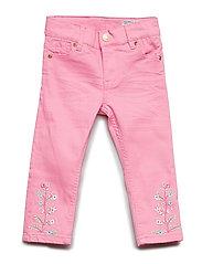 Trousers Woven Embroidery Preschool - SACHET PINK