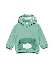 Sweater w hood Baby - MALACHITE GREEN