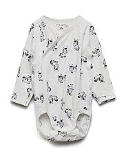 Body Wrapover with print Baby - SNOW WHITE