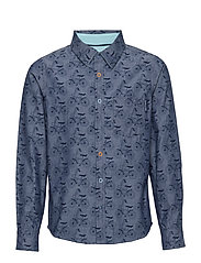Shirt Long Sleeve with print School - MID DENIM