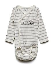 Body Wrapover Embroidery Baby - SNOW WHITE