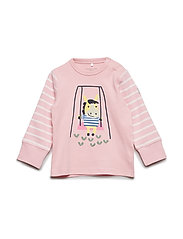 T-shirt Long Sleeve PO.P Stripe Baby - ALMOND BLOSSOM