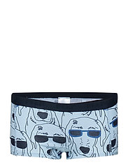 Boxer Girl with print - COOL BLUE
