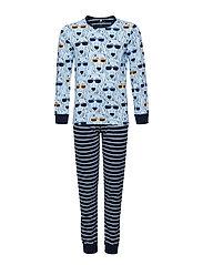 Pyjamas with print/Striped - COOL BLUE