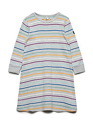 Nightdress Long Sleeve PO.P Stripe Preschool - GREYMELANGE