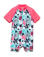 Swimsuit Short UPF AOP Preschool - FANDANGO PINK