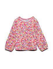 Top l/s AOP preschool - SACHET PINK