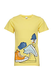 T-shirt Frontprint s/s School - SNAPDRAGON