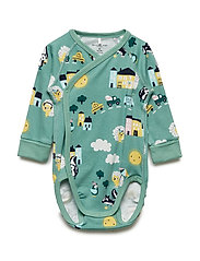 Body Wrapover AOP Baby - MALACHITE GREEN