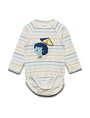 Body Striped Baby - SNOW WHITE