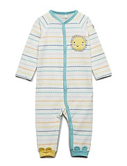 Overall Striped Baby - SNOW WHITE