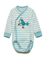 Body Wrapover PO.P Stripe Baby - AQUA HAZE