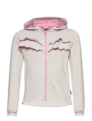 Zip Up l/s frill School - ECRU MELANGE
