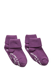 Sock 2-Pack Solid Preschool - CONCORD GRAPE