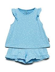 Pyjamas S/S AOP Preschool - ALASKAN BLUE
