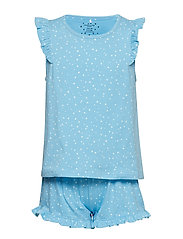 Pyjamas S/S AOP School - ALASKAN BLUE