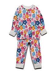 Pyjamas L/S AOP Preschool - SACHET PINK