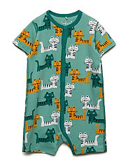 Pyjamas Overall AOP Baby - MALACHITE GREEN