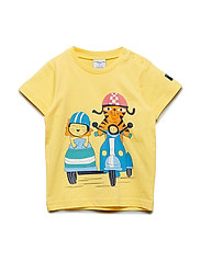 T-shirt s/s Frontprint Preschool - SNAPDRAGON