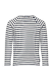 Top l/s striped School - MEDIEVAL BLUE