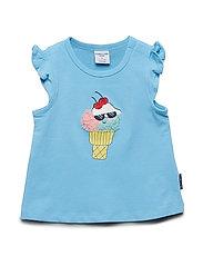 Top s/s print Preschool - ALASKAN BLUE