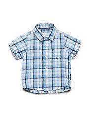 Shirt S/S Check Preschool - SNOW WHITE