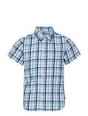 Shirt S/S Check School - SNOW WHITE