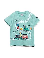 T-Shirt S/S print Preschool - AQUA HAZE