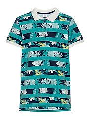 T-shirt S/S Piké School - MEDIEVAL BLUE